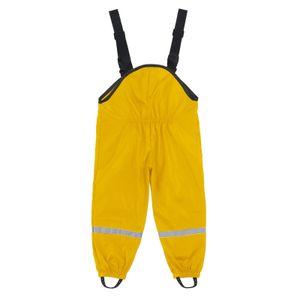 Unisex Kinderregen Latzhose Winddichte und wasserdichte Schlammhose Größe:116,Farbe:Gelb