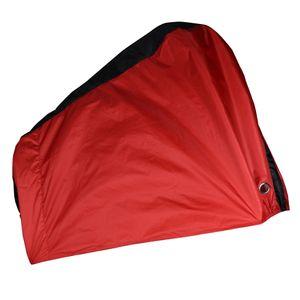 Fahrrad-Regenschutz Farbe rot