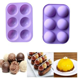 2pcs Silikon Mulden Backform Halbkugel Muffinform Kuchenform 3D Schokoladenform