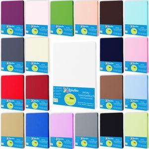 Spannbettlaken Jersey  Spannbetttuch 100% Baumwolle 90x200 - 100x200 cm Farbe Weiß