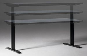 eModel 2.0 Schreibtisch Compact-Form, elektrisch höhenverstellbar, Buche Natur, Größe Tischplatte:200 x 90 cm, Gestellfarbe:Weiß, Farbe Tischkante:gleich Tischplatte