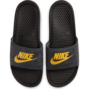 Nike Benassi Jdi Black/Laser Orange-Iron Gr 41