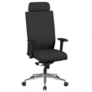 Bürostuhl ADRIAN Stoffbezug Schwarz Schreibtischstuhl