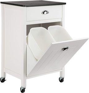ONVAYA® Küchenrollwagen mit Mülleimerfach