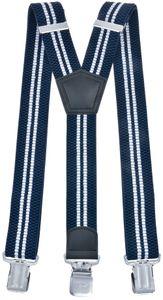 Hosenträger Y From breit  dunkelblau