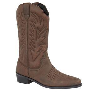 Gringos Herren High Clive Western Cowboy Stiefel DF717 (42 EU) (Mattbraun)