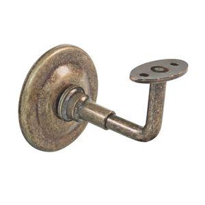Handlaufstütze Halterung Handlauf Metall Antik Messing optik Wandhalterung