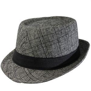 Trilby Hut - Fedora - schwarz - weiß