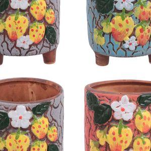 Mllaid Keramische Sukkulenten Topf Mini Kaktus Pflanzer Töpfe glasiert Porzellan Handwerk Container für Home Office Desk Dekoration 4pcs