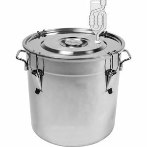 GÄRFASS 30 l Edelstahlbehälter mit Deckel, Eimer, Fass, Gärbehälter BRO
