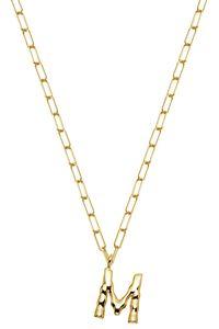 XENOX XS4150G/M Damen Collier Buchstabe M Silber 925 Gold 45 cm