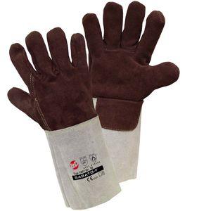 L+D Worky 1807 Hitze-Handschuh, Schweißer-Handschuh Sabato-F Spaltleder Größe 10