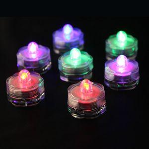 LED Farbwechsel-Teelichter, wasserdicht –2x 4er Set (8 Stück)