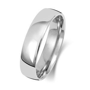 Schwerer Platin 950 5mm Slight Court Form Herren/Damen - Trauring/Ehering/Hochzeitsring, 61 (19.4); WJS15117PT950