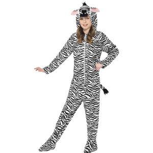 Kinder Kostüm Zebra Overall Karneval Fasching S 4 bis 6 Jahre
