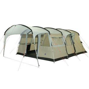 10T Sorrento 6 - 6-Personen Tunnel-Zelt mit Vordach teilbare Schlafkabine Voll-Bodenwanne  WS=5000mm