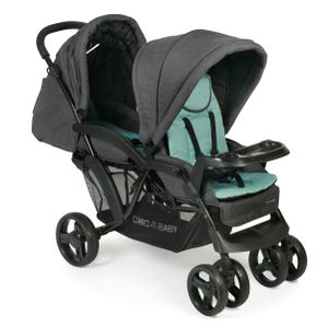 Chic 4 Baby Kinderwagen Geschwisterwagen Doppio Melange mint