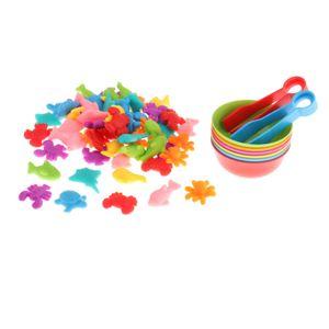 Pädagogisches Zählen Spielzeug Bunte Sortierung Spielzeug mit Schalen für 2-4 Jahre Alt, vorschule Farbe Learning Spielzeug für Kinder Meerestiere A.