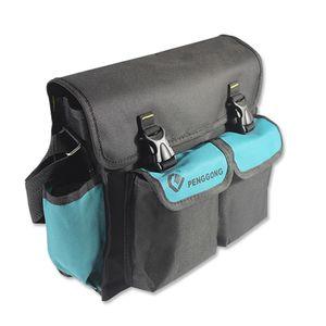 081 Multifunktionale Werkzeugaufbewahrungstasche Ein-Schulter-Tasche Oxford-Stoff Wasserdichtes und verschleissfestes Toolkit Elektriker-Toolkit