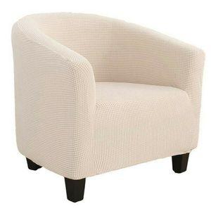 1 Sitzer Sesselhussen Sesselbezug Stretch Elastisch Sofahusse Sofabezug Sesselschoner Couch Husse Sofaüberwurf Beige 65-90cm