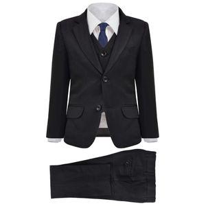 vidaXL Jungen-Anzug 3-tlg. Größe  116/122 Schwarz