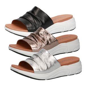 Caprice Damen Pantoletten Clogs Leder 9-27203-26, Größe:38 EU, Farbe:Braun