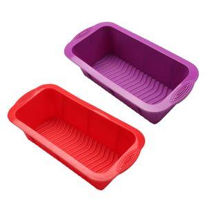 2 Stück Silikon Rechteckige Toastbox Kuchenformen Kasten Silikonbackform Brotbackform