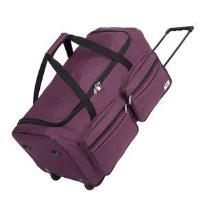 DEUBA® Reisetasche Sporttasche Reisekoffer Trolley Tasche Gepäcktasche 85-160 Liter, Farbe:violett