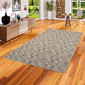Streifenberber Teppich Modern Stripes Beige, Größe:200x200 cm