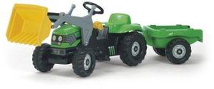 rolly toys Kid Deutz Trettraktor mit Schaufellader und Anhänger, Maße: 161x47x55 cm; 02 319 6