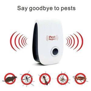 4 Stück Gegen Mäuse Ultraschall Schädlingsbekämpfer Elektronische Insektenschutzmittel,Tiervertreiber durch Ultraschall Mäuseabwehr Rattenfalle Weiß