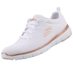 Skechers Flex Appeal Damen Sneaker Weiß Schuhe, Größe:39