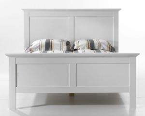 Paris Bett 140 x 200 cm Weiß