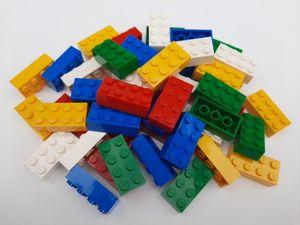 Lego© Steine 50 bunt gemischte originale basic Bausteine mit 2*4 Noppen *neu und unbespielt*