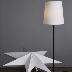 Papierstern/Dekoleuchte 'Frozen' - stehend - 7-zackig - Ø 55cm, H: 80cm - E14 - inkl. Kabel - weiß
