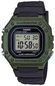 Casio Collecion Digital Armbanduhr W-218H-3AVEF schwarz grün