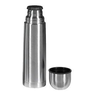 Isolierflasche mit Drehverschluss & Metalleinsatz, Edelstahl, 300ml, silber (1 Stück)