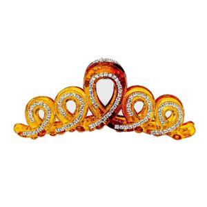 Strass Haargreifer Styling Haarklammern Haarklammer Haarclips mit Diamant Haar Schmuck für Damen Frauen Pferdeschwanz Farbe Braun