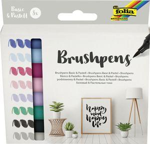 "folia Pinselstift Brush Pens ""Basic & Pastell"" 8er Set"