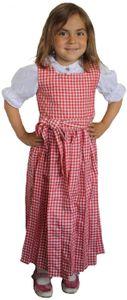 Mädchen Kinder Dirndl Mädchendirndl Kleid Rot/Weiß kariert, Größe:116