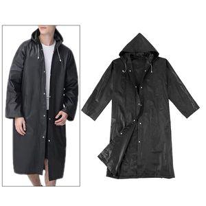 Mit kapuze Regen Poncho Wasserdichte Regenmantel Jacke für Männer Frauen Erwachsene, Winddicht Kordelzug und Taste Verschluss, Knie Länge