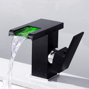 armatur Bad Badarmatur  Küchen Wasserhahn  Waschbecken Wasserfall Einhandmischer  Waschtisch Spüle Mischbatterie Waschtischarmatur Schwarz