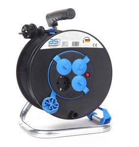as - Schwabe 10118 Sicherheits-Kabeltrommel 230mmØ, 25m H05VV-F 3G1,5