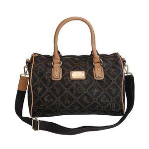 Giulia Pieralli - Damen Handtasche Damentasche Bowlingtasche - Kaffee Beige