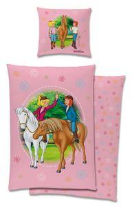 Bibi und Tina Pferde Bettwäsche 80x80 + 135x200cm 100% Baumwolle Renforcé