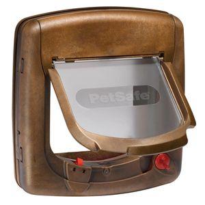 PetSafe Magnetische 4-Wege-Katzenklappe Deluxe 420 Braun 5006
