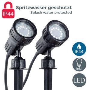 LED Gartenstrahler Pflanzenstrahler Innen  Außen inkl. 3W GU10 Erdspiess Wegbeleuchtung Gartenbeleuchtung schwenkbar IP44 B.K.Licht