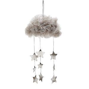 Hängende Mesh Wolke Sterne Anhänger Dekoration für Baldachin Betthimmel 20x28cm Gray02