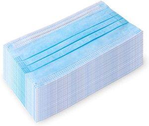 50Stück  Mundschutz 3-lagig ,  MNS Atemschutz Einweg Maske Hygieneschutz 18x9 cm Blau Menge: 50Stück / Packung