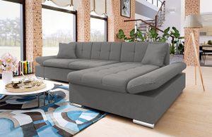Mirjan24 Ecksofa Malwi mit Regulierbare Armlehnen Eckcouch mit Schlaffunktion und Bettkasten, L-Form Sofa vom Hersteller (Mono 246, Ecksofa: Rechts)